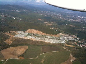 Approaching Sarajevo - there are many, many cemeteries in Bosnia