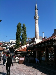 The old town in Sarajevo.