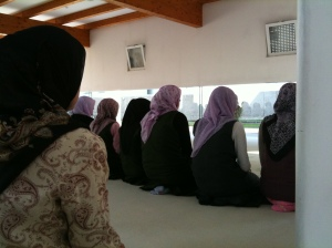 Young women at the madrassa's mosque