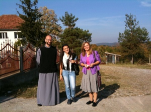 Pop Nico, an archpriest in the Serbian Orthodox church and one of our conference hosts, Lila, from the Roman Catholic church in Tuzla, and Alenka Tanovic, our interpreter from the Muslim community who was once an au pair in Thamesmead in London.  There were many times during our trip that it was clear that individuals from the three main communities in Bosnia were friends and building bridges across the divides.  More organised and insitutional multi and inter faith activities were less common.  Figures show that there has been a massive increase in organised inter/multifaith activity in the UK since 9/11, so circumstances obviously play a part.
