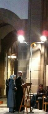 Amila and Niko at Blackburn Cathedral