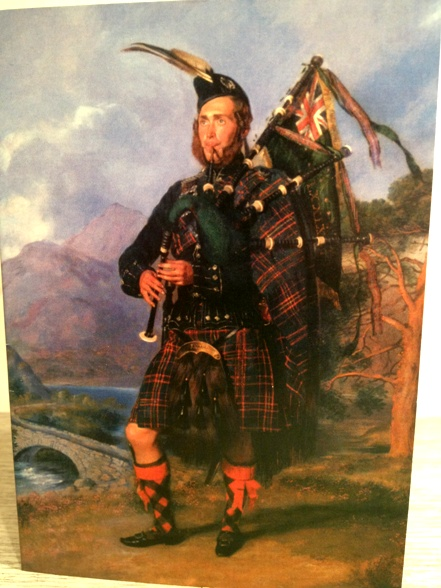 A Cameron Highlander - from old family friends.  A reminder of my birthplace, with a loch and mountains in the background.  A new Peace Tartan was created last year - keen to track it down.