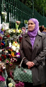Julie Siddiqi after laying flowers in memory of British soldier Lee Rigby.