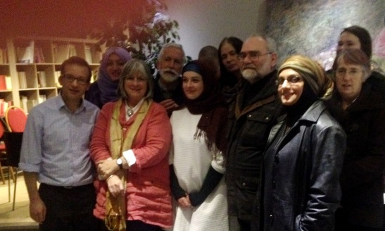 Some of us after the Peace Cafe this evening, with Jo Berry and Pat Magee
