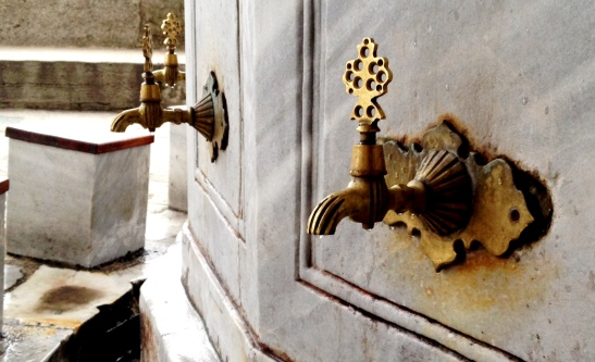 Taps at the Iskele Camii.