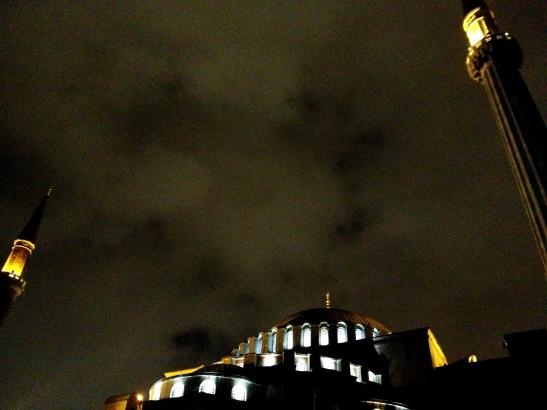 Haghia Sophia (Church of Holy Wisdom) at night.