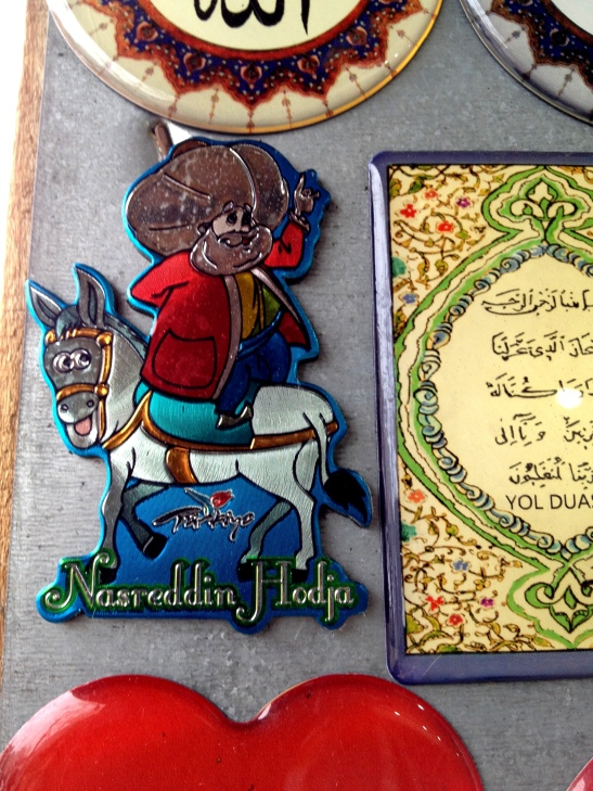 Mullah Nasruddin, riding his donkey backwards - lots of stories about this wise fool in Islamic culture.