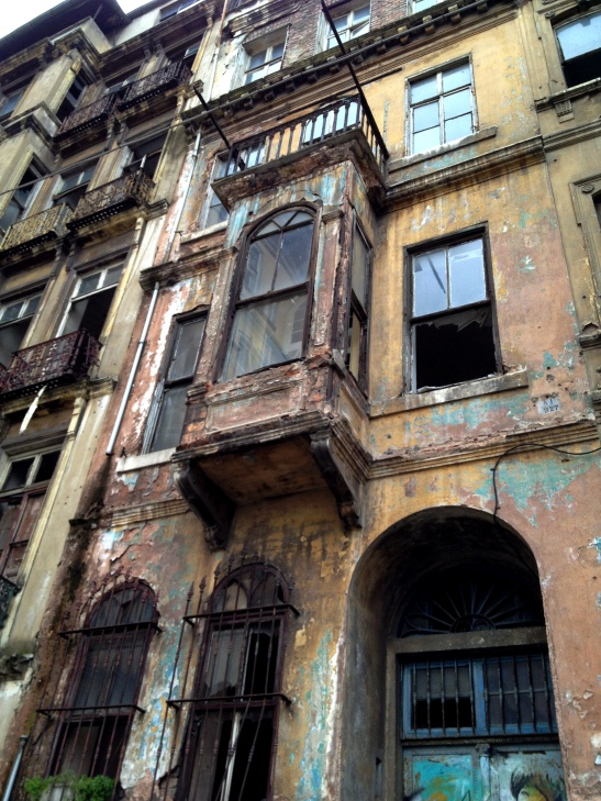 The old district of Pera - Monmartre meets Palermo.  Not all the old houses have been renovated - oriel windows are common.